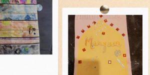 Prayer mat workshop - Photos of prayer carpets decorated by children